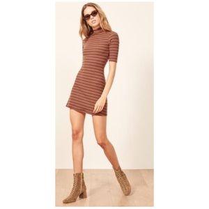 New Reformation Mod Dress in Gabriel Stripe Small